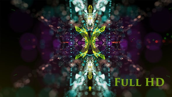 Thumbnail for Colorful Disco Kaleidoscope Background