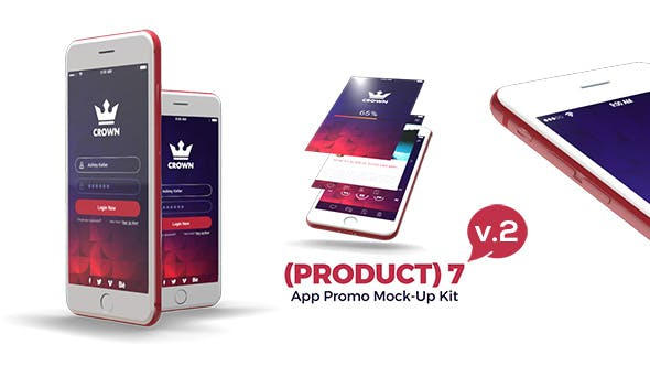Thumbnail for (Product) 7 App Promo Mock-Up Kit v.3