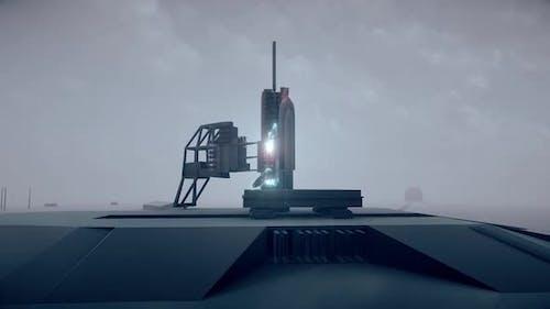 Rocket Launching Arena Preparing To Flight Hud Hologram Hd