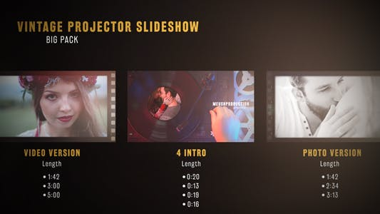 Thumbnail for Vintage Projektor Diashow Big Pack