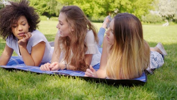 Cover Image for Beautiful Women Communicating on Grass