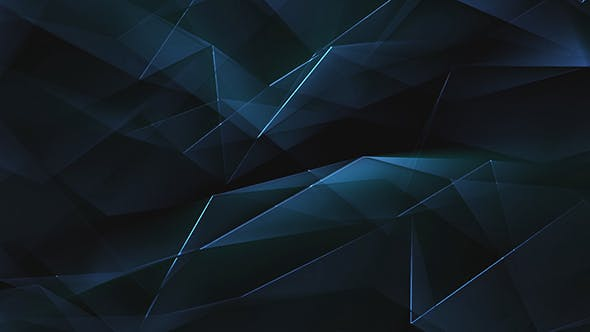Thumbnail for Blue Shiny Polygonal Triangles Background Loop
