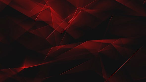 Thumbnail for Red Shiny Polygonal Triangles Background Loop