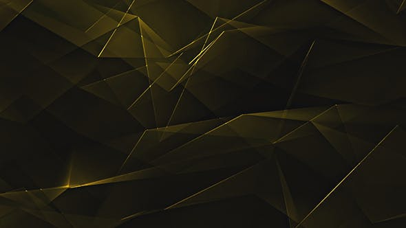 Thumbnail for Golden Shiny Polygonal Triangles Background Loop