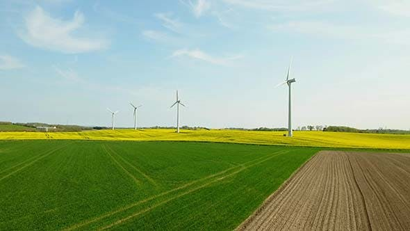 Thumbnail for Landscape With Wind Turbine Farms