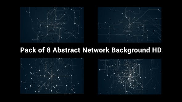 Thumbnail for Pack of 8 Abstract Network Backgrounds HD