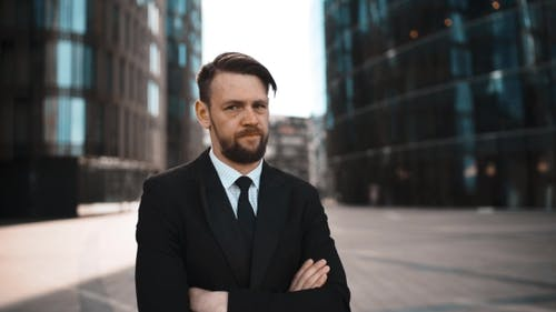 Beard Businessman Disgusted with You