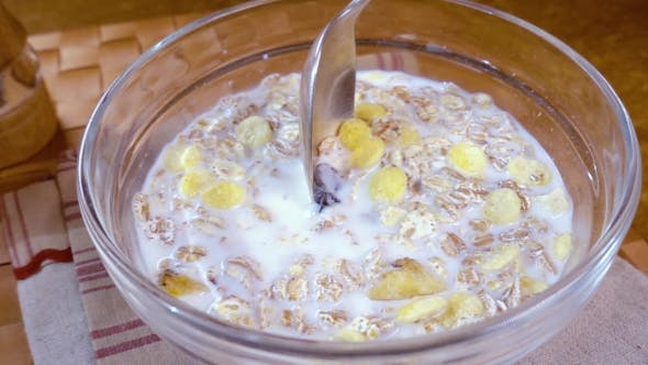 Thumbnail for Whole Grain Cereal Muesli in a Bowl