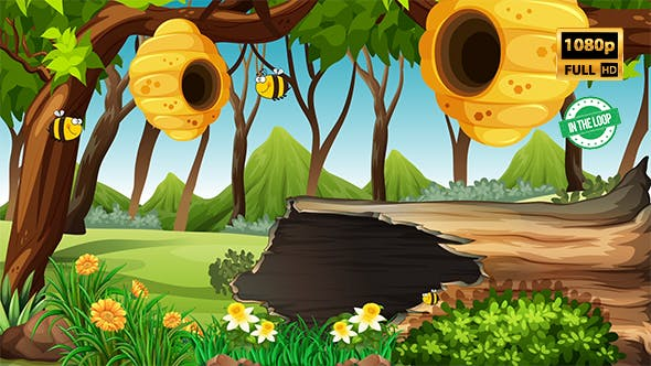 Thumbnail for Bee Cartoon Background 2
