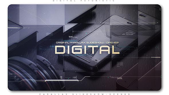 Thumbnail for Digital Futuristic Parallax Slideshow | Opener