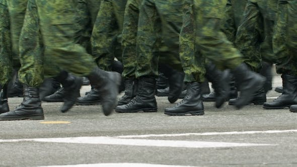 Thumbnail for Soldiers Walking By the Street