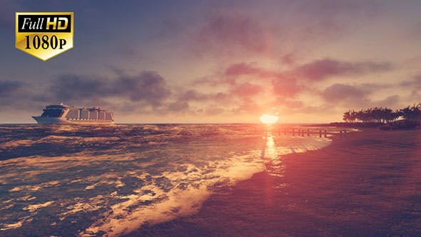 Thumbnail for Tropical Beach Sunset 2