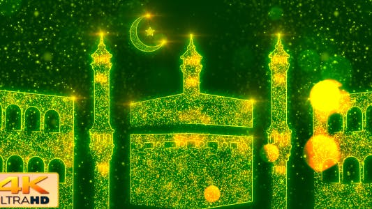 Thumbnail for Mecca Mosque - Ramadan Background V2