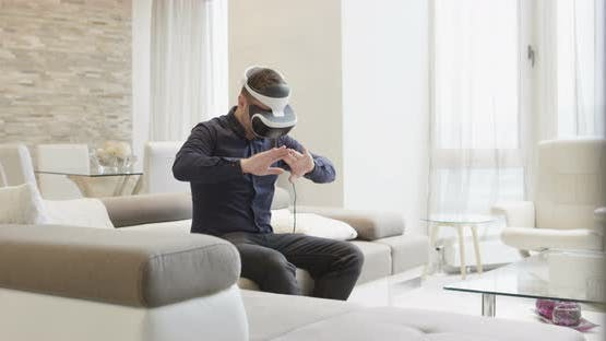 Smart Man Using VR
