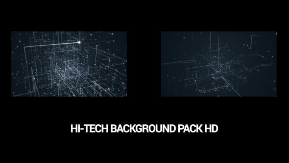Thumbnail for Pack of 5 Abstract Hi-Tech Backgrounds HD