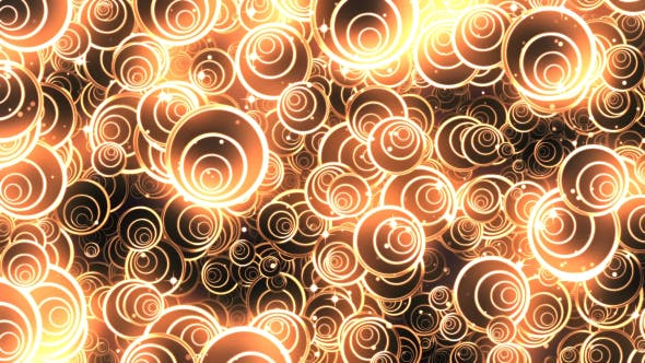 Thumbnail for Abstract Gold Circles Background