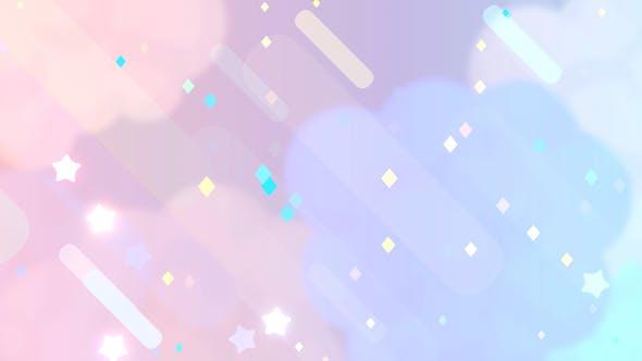 Thumbnail for Cartoon Pastel Night Sky 2