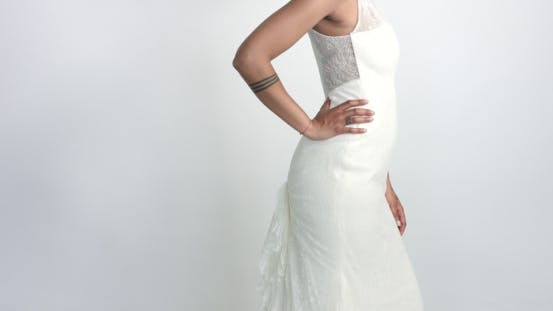Thumbnail for Beauty Mixed Race Bride in Studio