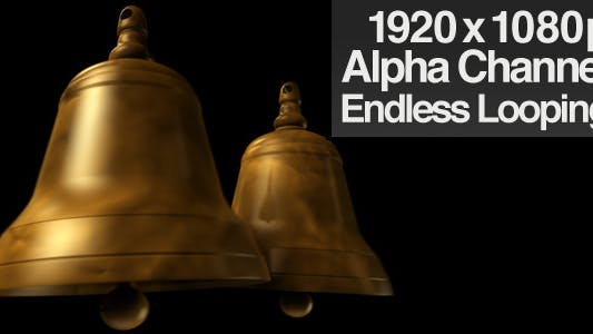 Double Bells Ringing - Alpha Channel + Loop