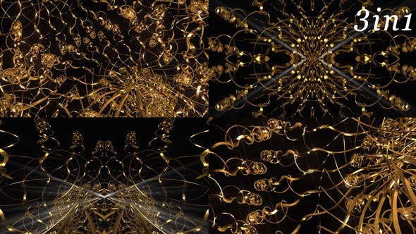 Thumbnail for Gold Waves - VJ Loop Pack (3in1)