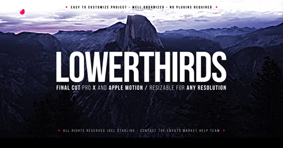 Download Elegant Lower Thirds FCPX by JoelStarling