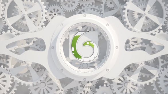 Thumbnail for White Gears Logo