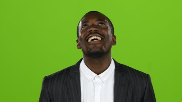 Thumbnail for African American Wonderful Guy, His Smile Conquers All, and Laughter Is Contagious. Green Screen.
