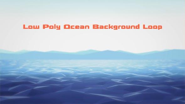 Low Poly Ocean Background Loop