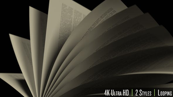 Thumbnail for Turning Over Pages in a Book 4K