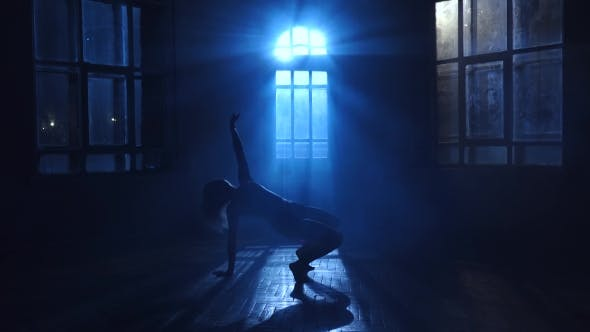 Thumbnail for Modern Teenage Girl with Long Hair Dance Contemporary Style, Silhouette