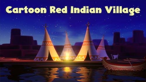 Cartoon Red Indian Village Loop