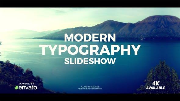 Modern Typography Slideshow