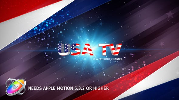 Thumbnail for USA Patriotic Broadcast Pack - Apple Motion