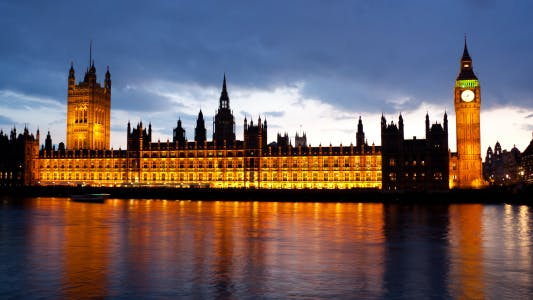 Thumbnail for Day to night timelapse of Big Ben and the Houses of Parliament