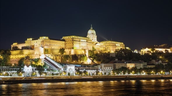 Thumbnail for Night Budapest and the Royal Palace in the Background