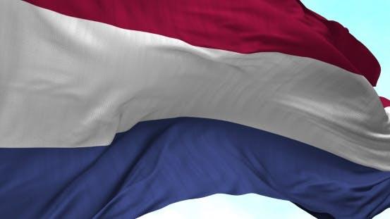Thumbnail for Niederlande Flagge im Wind