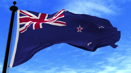 Thumbnail for New Zealand Flag in the Wind