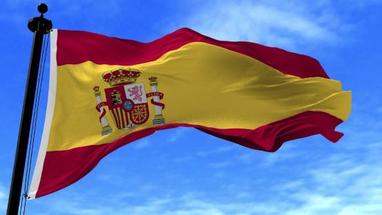 Thumbnail for Spain Flag in the Wind