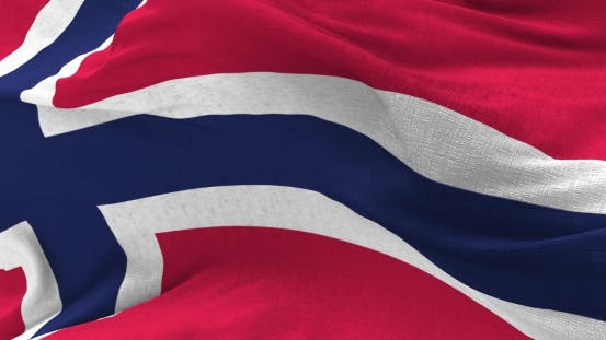 Thumbnail for Norwegen Flagge im Wind