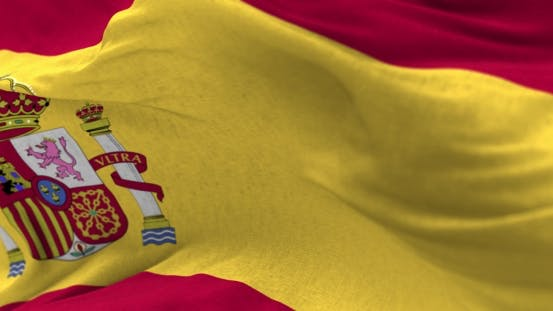 Cover Image for Spain Flag in the Wind