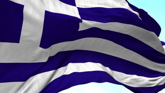 Thumbnail for Greece Flag in the Wind