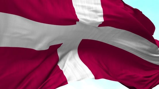 Thumbnail for Denmark Flag Blowing in the Wind