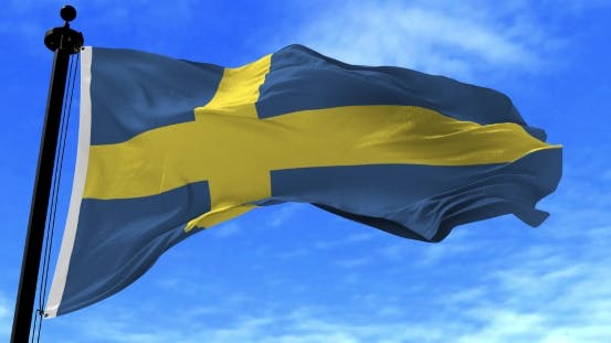 Thumbnail for Sweden Flag in the Wind