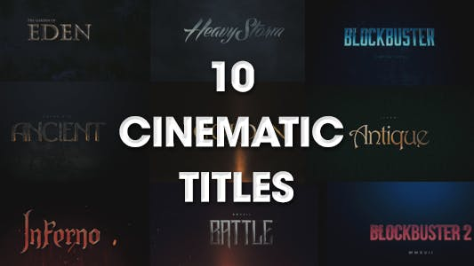 Thumbnail for 10 Cinematic Titles