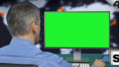 Computer Green Screen