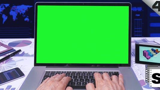 Thumbnail for Green Screen Business Computer