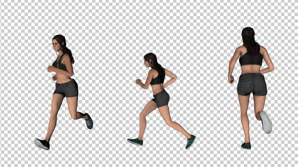 Thumbnail for Woman Running - 3 Scene