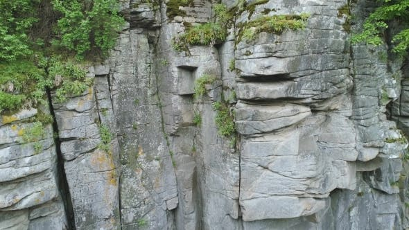 Thumbnail for Aerial Footage. Rock Wall