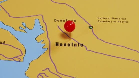 Thumbnail for Map of Honolulu 01b