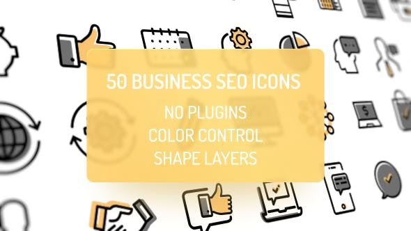 Thumbnail for 50 Animated Business Icons